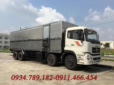 Sản phẫm mới Xe tải thùng Dongfeng Hoàng Huy L315 (8x4) thiết kế thùng inox kín